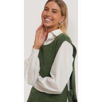 NA-KD Trend Gebreid Vest Met Open Zijkant - Green