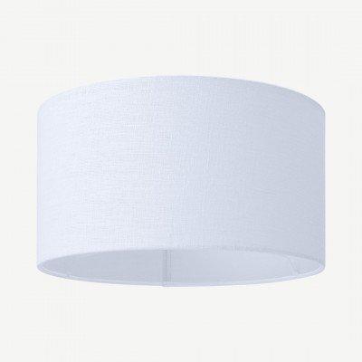 MADE.COM Porto lampenkap van linnen, 30 x 16cm, wit