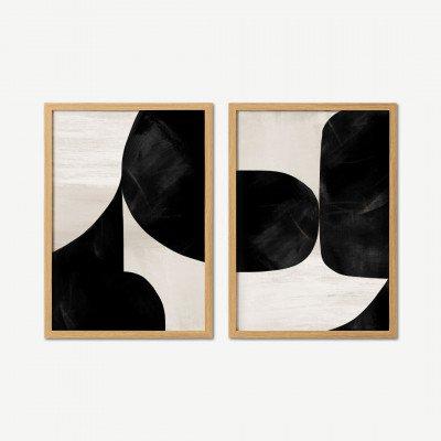 MADE.COM Dan Hobday, 'High Contrast', set van 2 ingelijste prints, A2
